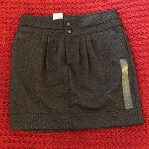 NWT Gap Brown Tweed Skirt